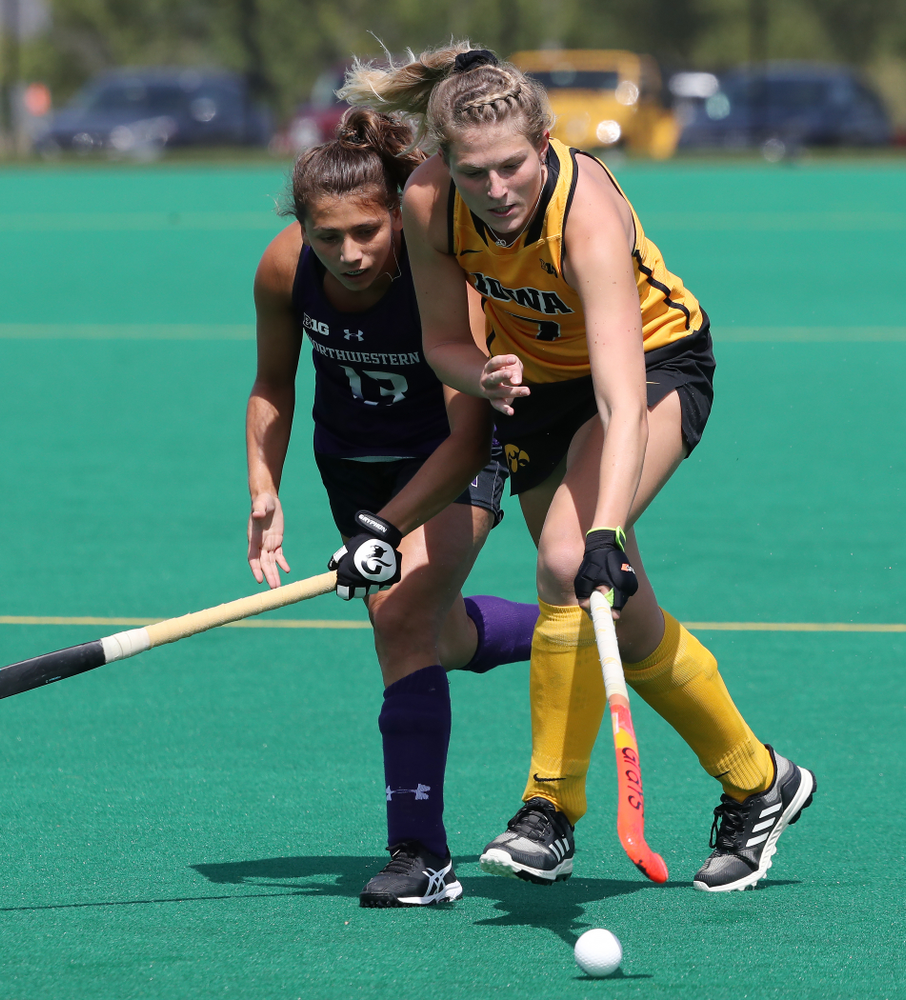 Iowa Hawkeyes Ellie Holley (7) during an exhibition game against Northwestern Saturday, August 24, 2019 at Grant Field. (Brian Ray/hawkeyesports.com)