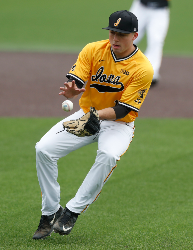 Iowa Hawkeyes pitcher Cole McDonald (11) against the Ohio State Buckeyes Sunday, April 8, 2018 at Duane Banks Field.(Brian Ray/hawkeyesports.com)