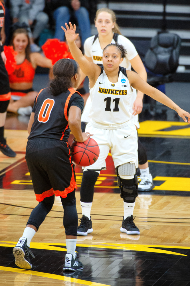 Iowa Hawkeyes Women's Basketball NCAA Tournament First Round vs Mercer, Friday March 22, 2019
