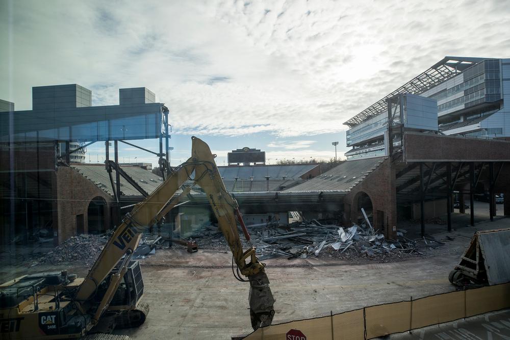 Kinnick Stadium North End Zone Demolition