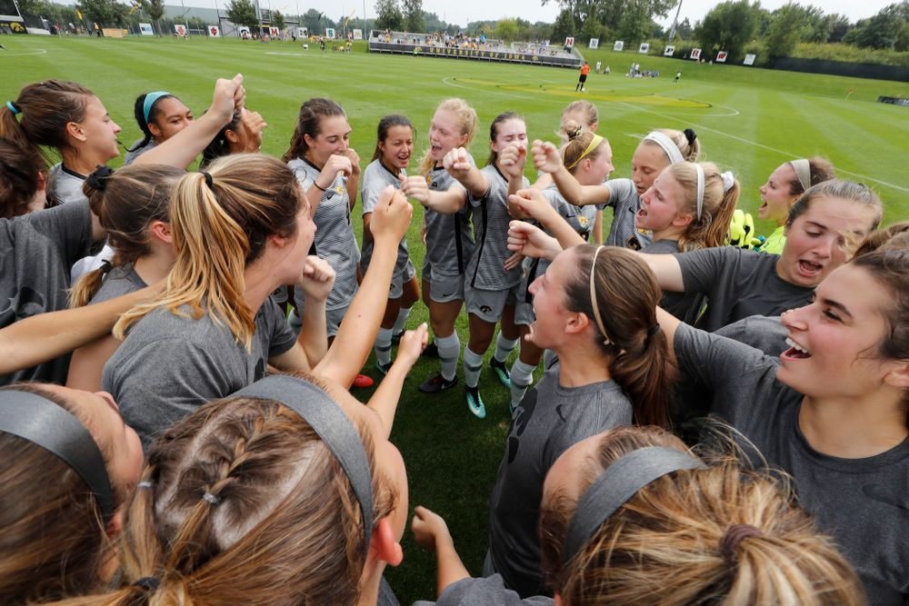 The Iowa Hawkeyes against Indiana State Sunday, August 26, 2018 at the Iowa Soccer Complex. (Brian Ray/hawkeyesports.com)