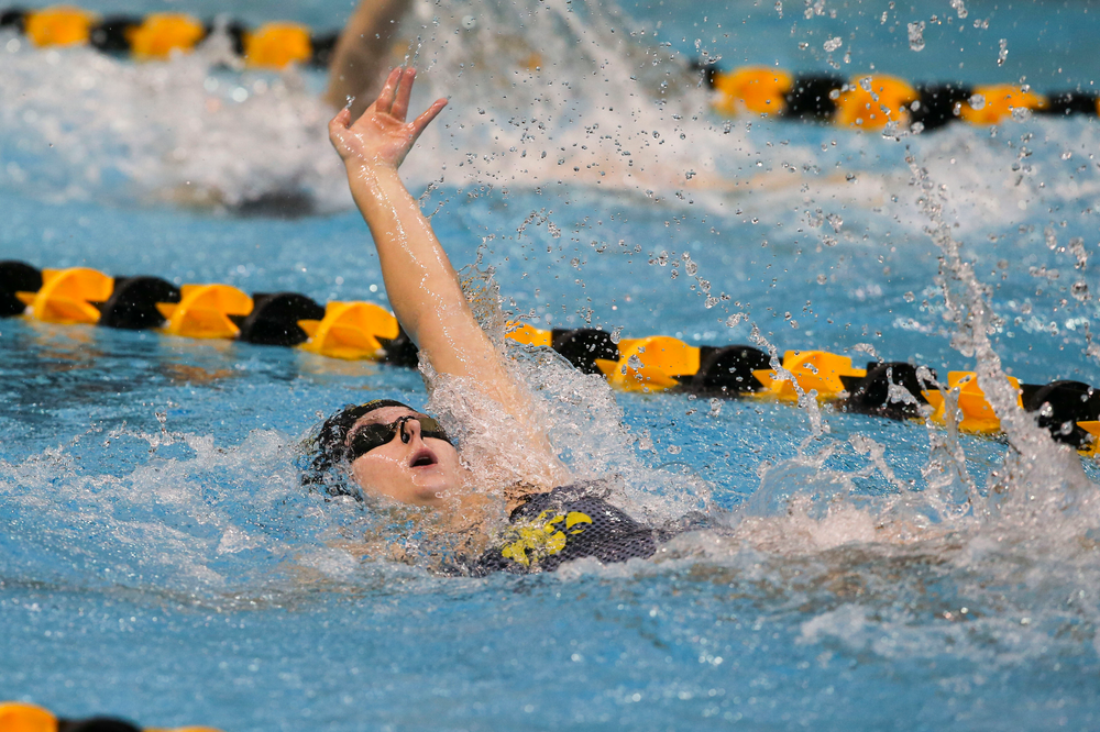 Iowa's Zoe Pawloski during Iowa swim and dive vs Minnesota on Saturday, October 26, 2019 at the Campus Wellness and Recreation Center. (Lily Smith/hawkeyesports.com)