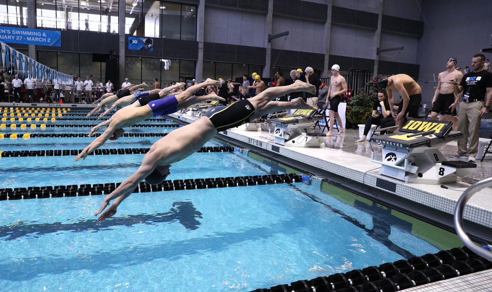 Iowa's Aleksey Tarasenko competes in the 200-yard freestyle on the third day at the 2019 Big Ten Swimming and Diving Championships Thursday, February 28, 2019 at the Campus Wellness and Recreation Center. (Brian Ray/hawkeyesports.com)