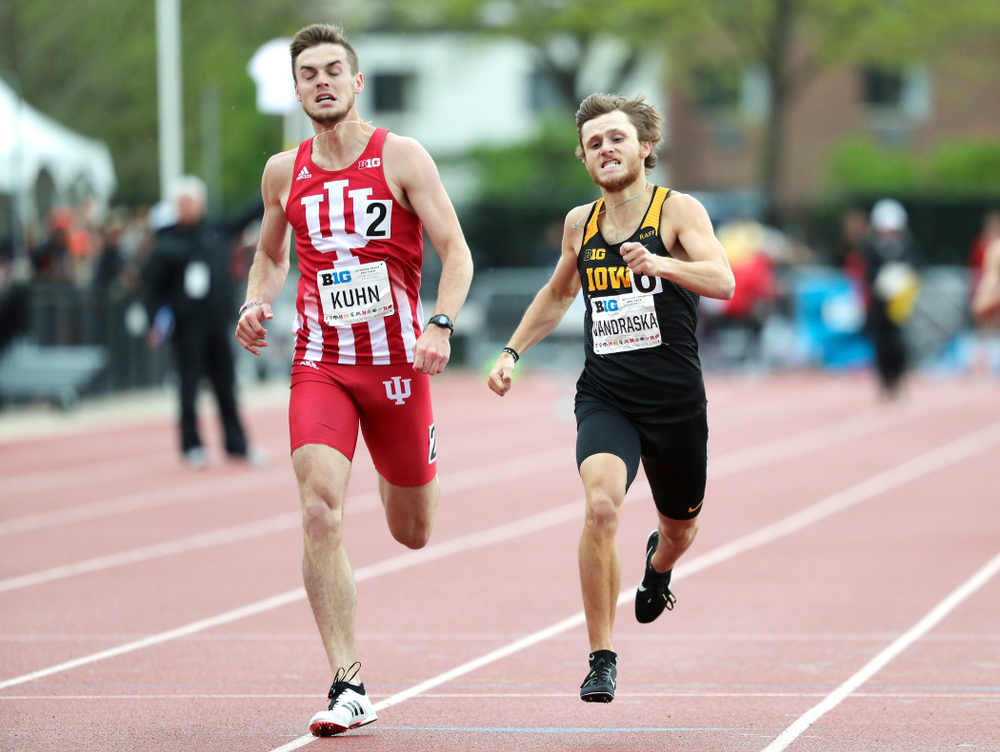 Iowa's Tysen VanDraska runs the men's 800 meter event on the second day of the Big Ten Outdoor Track and Field Championships at Francis X. Cretzmeyer Track in Iowa City on Saturday, May. 11, 2019. (Stephen Mally/hawkeyesports.com)