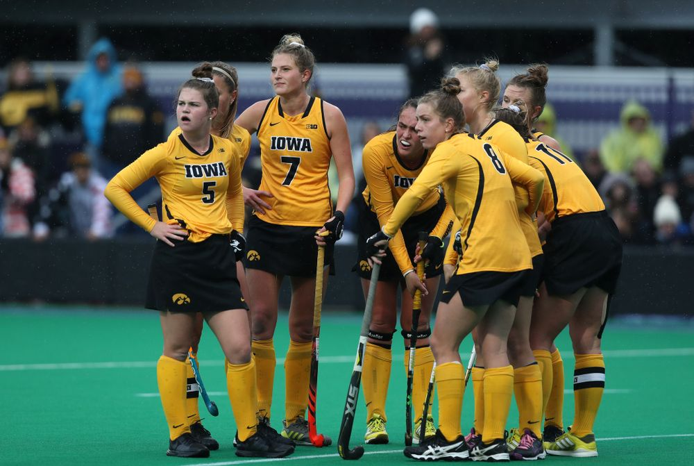 The Iowa Hawkeyes against Maryland during the championship game of the Big Ten Tournament Sunday, November 4, 2018 at Lakeside Field in Evanston, Ill. (Brian Ray/hawkeyesports.com)