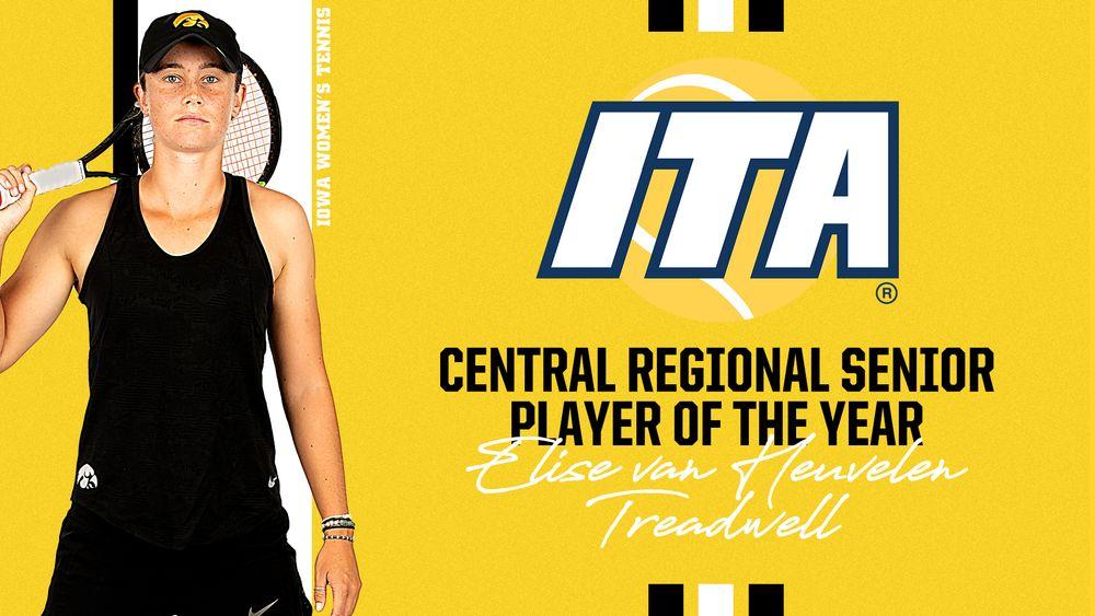 Elise van Heuvelen Treadwell named ITA Central Regional Senior Player of the Year