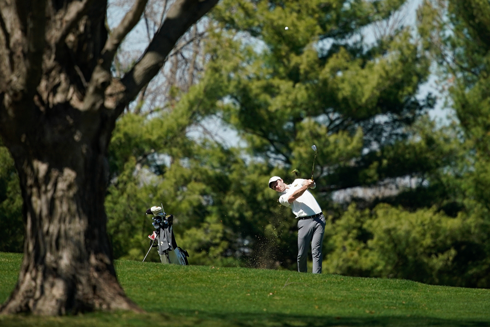 Iowa's Jake Rowe during the second round of the Hawkeye Invitational at Finkbine Golf Course in Iowa City on Saturday, Apr. 20, 2019. (Stephen Mally/hawkeyesports.com)