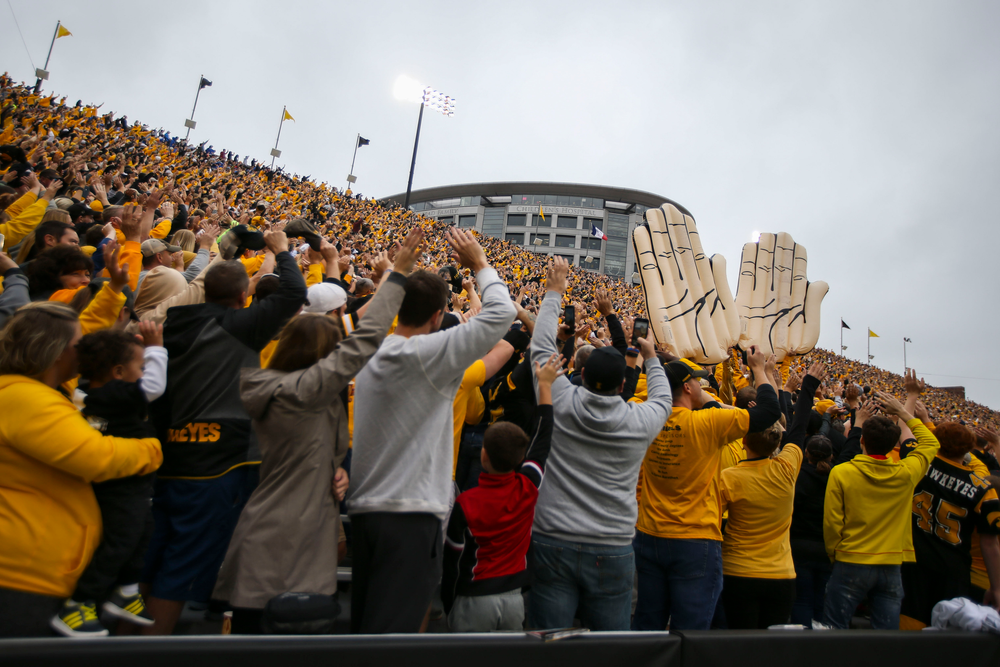 The Wave against Middle Tennessee Saturday, September 28, 2019 at Kinnick Stadium. (Lily Smith/hawkeyesports.com)