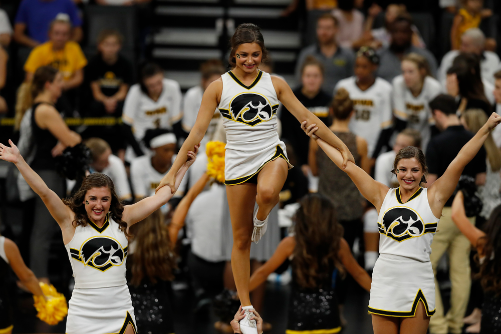 The Iowa Spirit Squad against Eastern Illinois Sunday, September 9, 2018 at Carver-Hawkeye Arena. (Brian Ray/hawkeyesports.com)