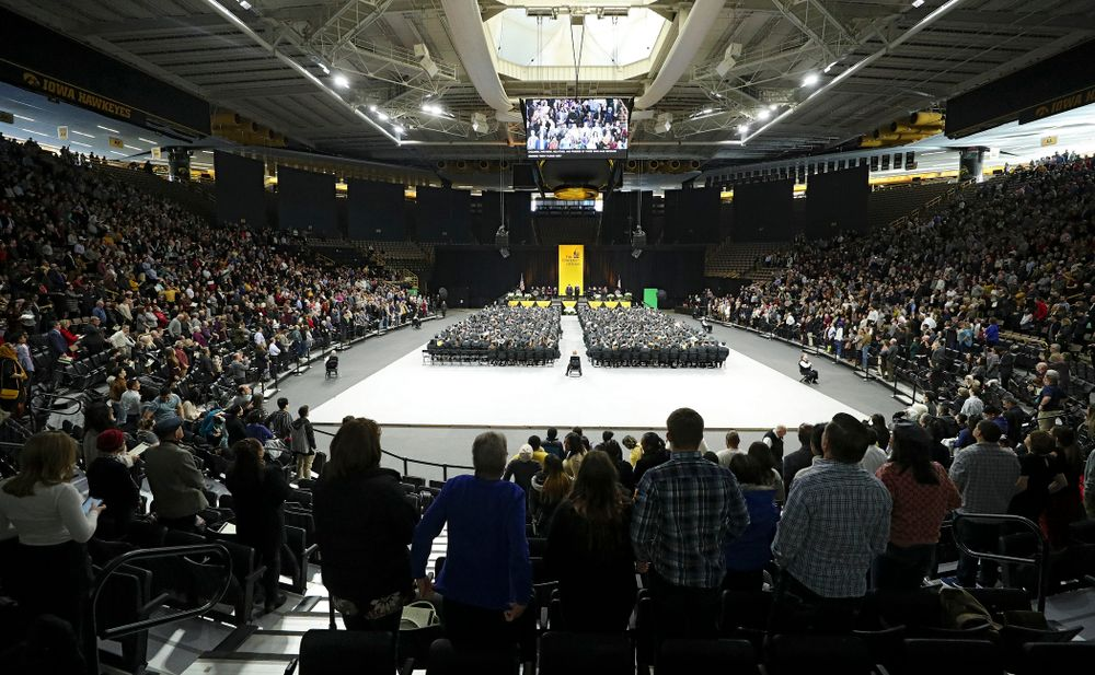 The College of Liberal Arts and Sciences and University College Fall 2019 Commencement ceremony at Carver-Hawkeye Arena in Iowa City on Saturday, December 21, 2019. (Stephen Mally/hawkeyesports.com)