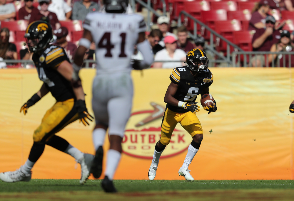 Iowa Hawkeyes wide receiver Ihmir Smith-Marsette (6) during the Outback Bowl Tuesday, January 1, 2019 at Raymond James Stadium in Tampa, FL. (Brian Ray/hawkeyesports.com)
