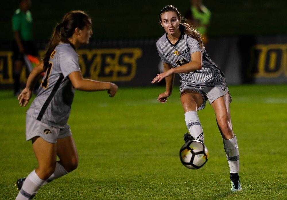 Iowa Hawkeyes midfielder Sydney Blitchok (11)