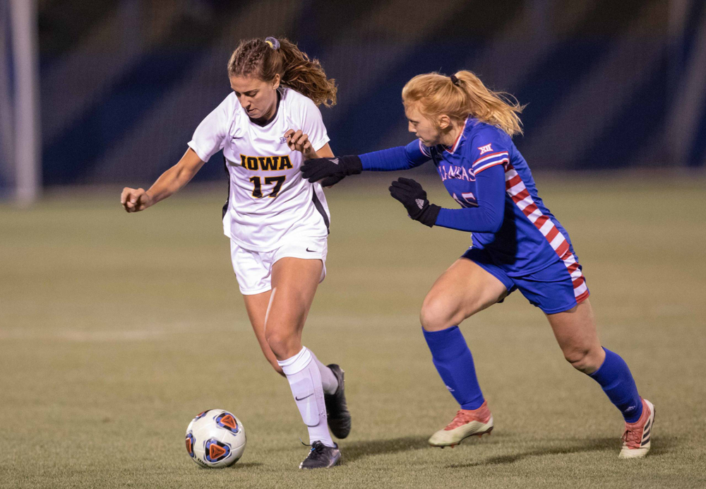 Hannah Drkulec NCAA Tournament Iowa at Kansas Nov. 16, 2019