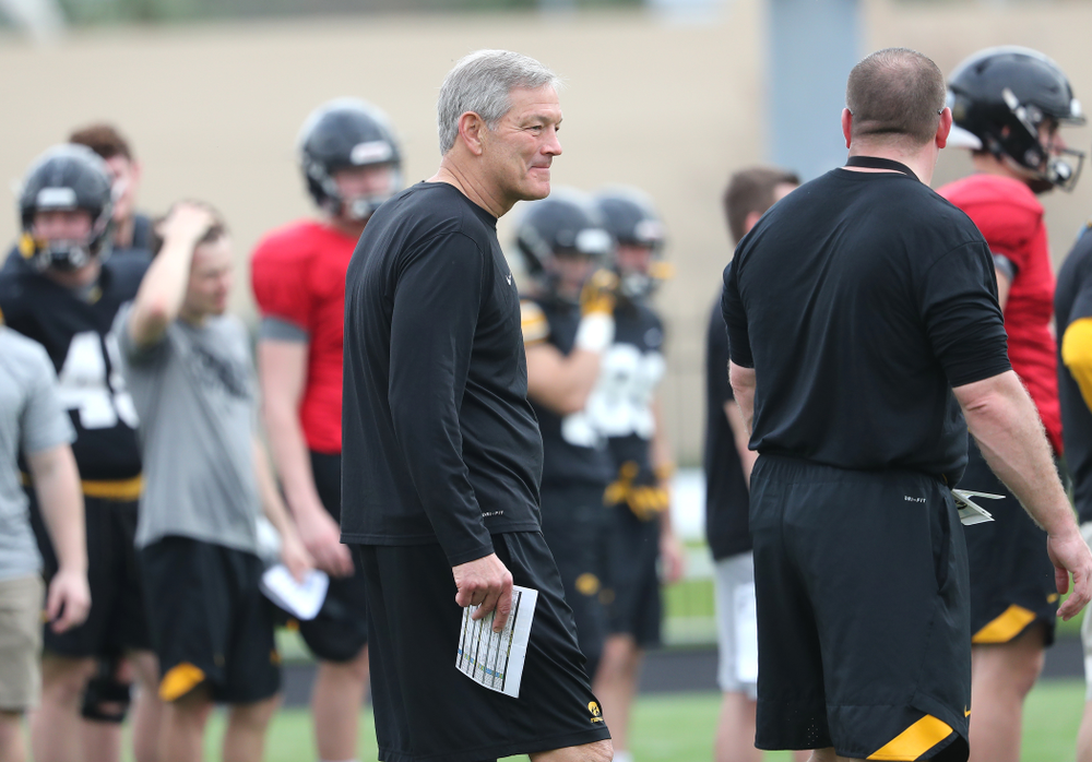 Iowa Hawkeyes head coach Kirk Ferentz as the team prepares for the Outback Bowl Saturday, December 29, 2018 at Tampa University. (Brian Ray/hawkeyesports.com)
