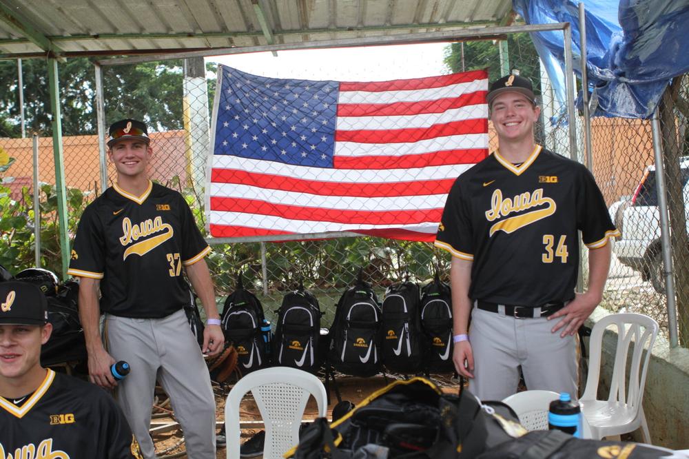 Kace Massner, Cole Pennock Iowa 9, Dominican Army National Team 4 Nov. 20, 2016 Photo: James Allan