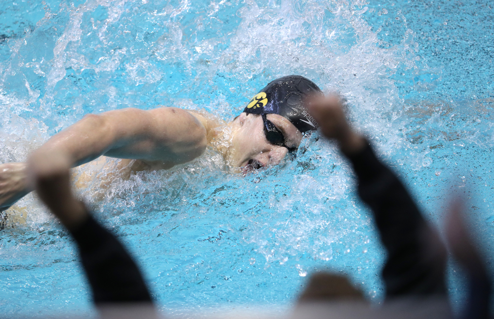 Iowa's Jackson Allmon swims in the preliminaries of the 500-yard freestyle during the 2019 Big Ten Swimming and Diving Championships Thursday, February 28, 2019 at the Campus Wellness and Recreation Center. (Brian Ray/hawkeyesports.com)