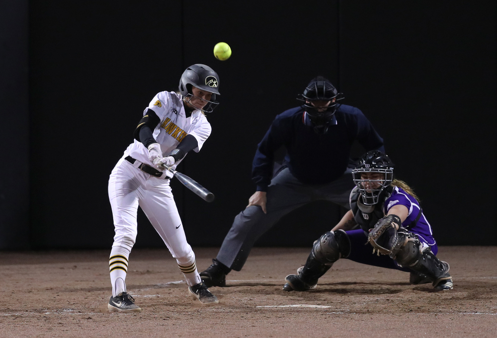 Iowa Hawkeyes Aralee Bogar (2) against Western Illinois Wednesday, March 27, 2019 at Pearl Field. (Brian Ray/hawkeyesports.com)