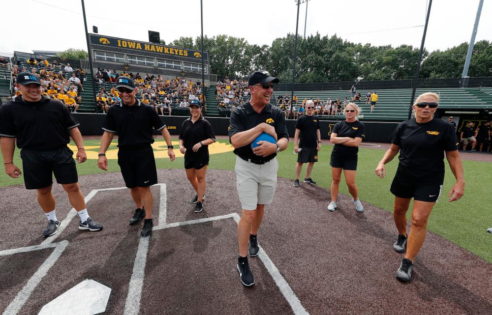 Athletics Director Gay Barta during the Iowa Student Athlete Kickoff Kickball game  Sunday, August 19, 2018 at Duane Banks Field. (Brian Ray/hawkeyesports.com)