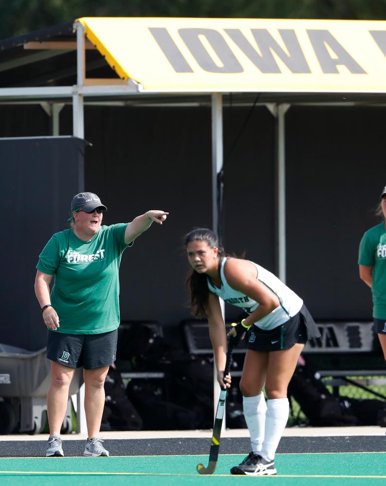 Dartmouth Head Coach and former Hawkeye Amy Fowler  Friday, August 31, 2018 at Grant Field.  (Brian Ray/hawkeyesports.com)