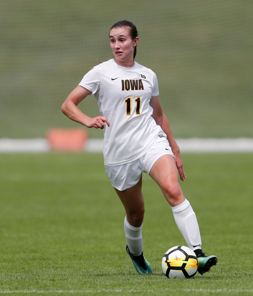 Iowa Hawkeyes Sydney Blitchok (11) against the Creighton Bluejays  Sunday, August 19, 2018 at the Iowa Soccer Complex. (Brian Ray/hawkeyesports.com)