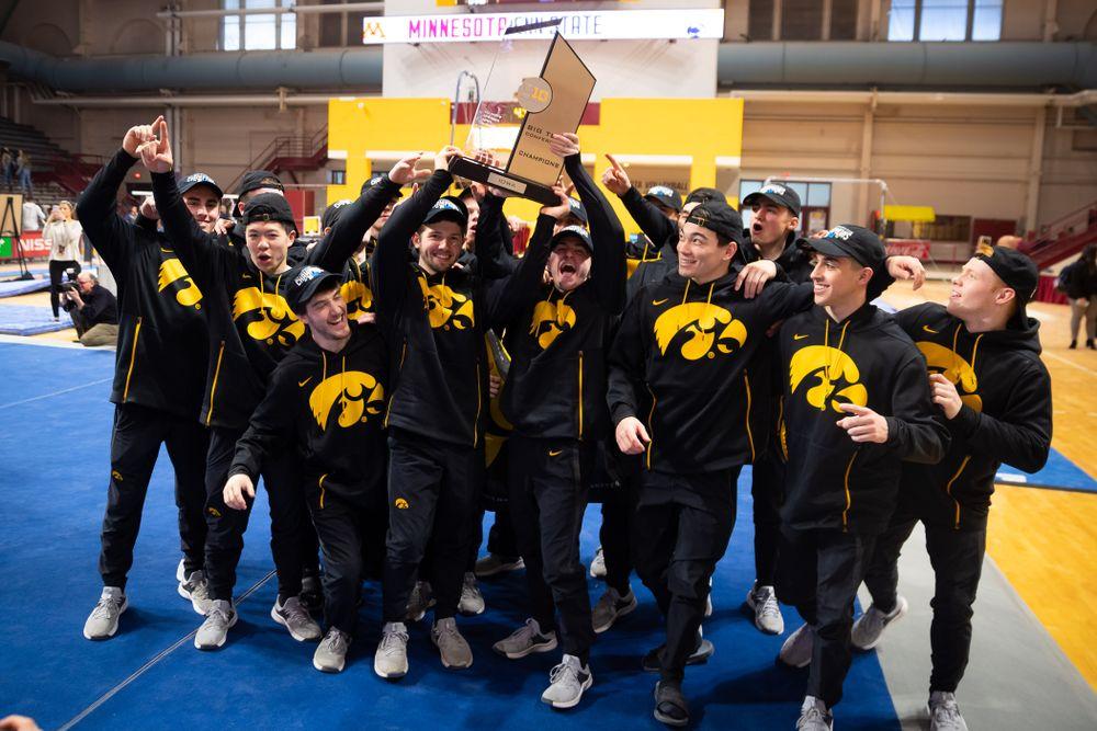 The Iowa Hawekeys against Minnesota and Penn State at the Maturi Pavilion Saturday, March 23, 2019 in Minneapolis, Minn. (C. Morgan Engel/Freelance)