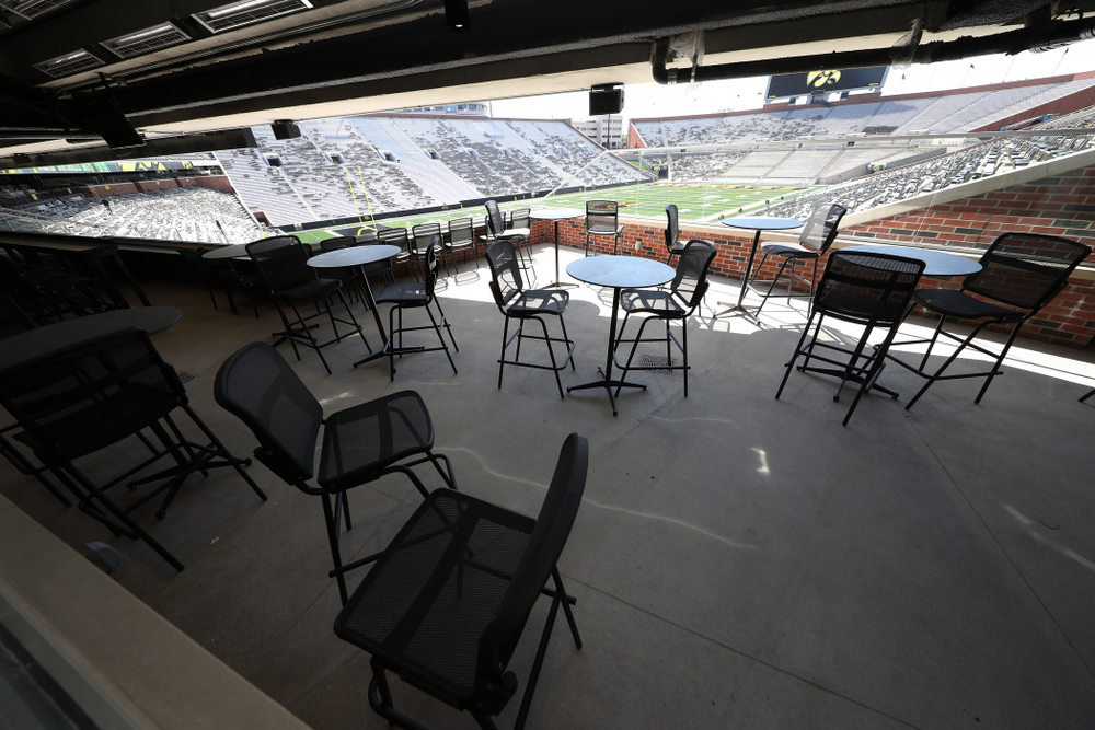 An Iron Man Loge Box in the new north end zone of Kinnick Stadium Friday, August 9, 2019. (Brian Ray/hawkeyesports.com)