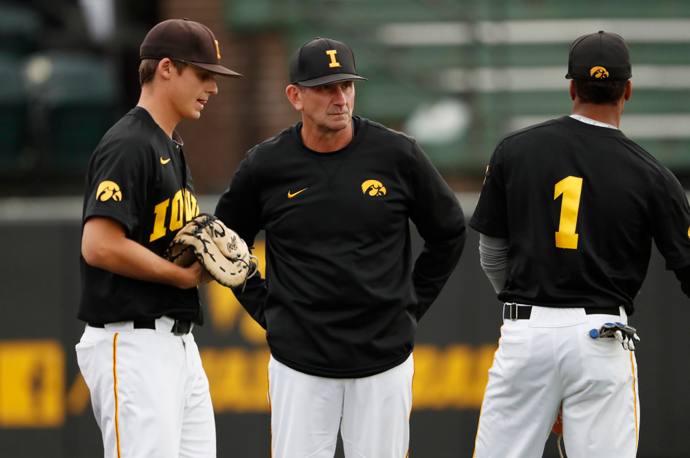 Head Coach Rick Heller against the Ontario Blue Jays Friday, September 21, 2018 at Duane Banks Field. (Brian Ray/hawkeyesports.com)