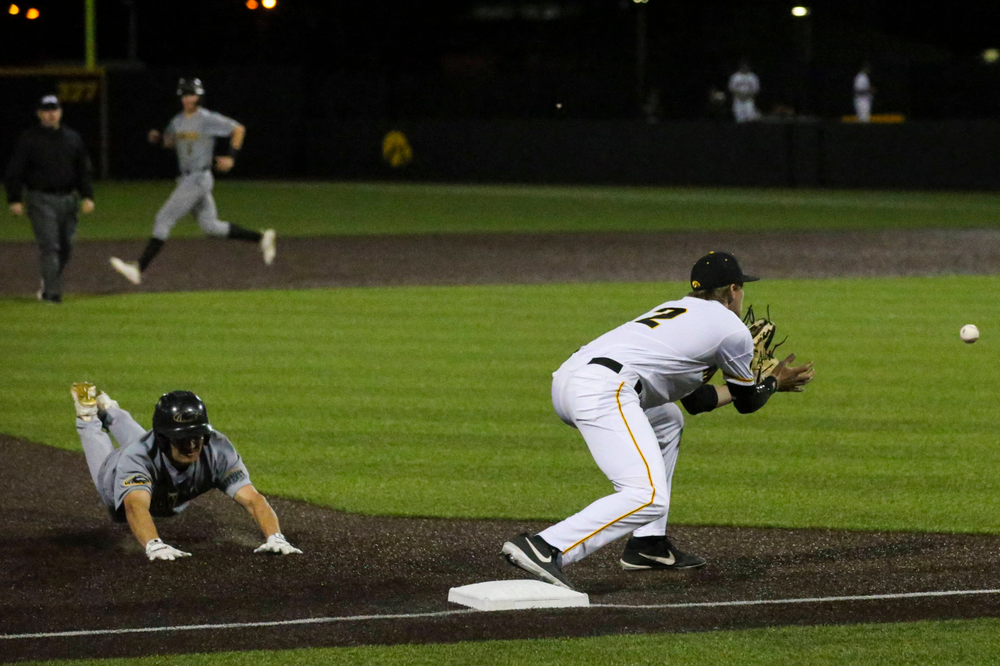 Iowa's Brendan Sher  at baseball vs Milwaukee on Tuesday, April 23, 2019 at Duane Banks Field. (Lily Smith/hawkeyesports.com)