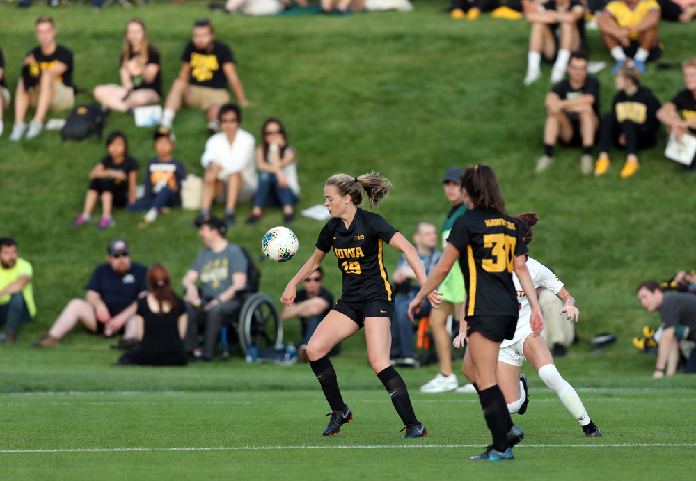 Iowa Hawkeyes forward Jenny Cape (19) during a 2-1 victory over the Iowa State Cyclones Thursday, August 29, 2019 in the Iowa Corn Cy-Hawk series at the Iowa Soccer Complex. (Brian Ray/hawkeyesports.com)