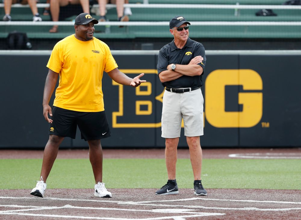 Athletics Director Gay Barta during the Iowa Student Athlete Kickoff Kickball game  Sunday, August 19, 2018 at Duane Banks Field. (Brian Ray/hawkeyesports.com)