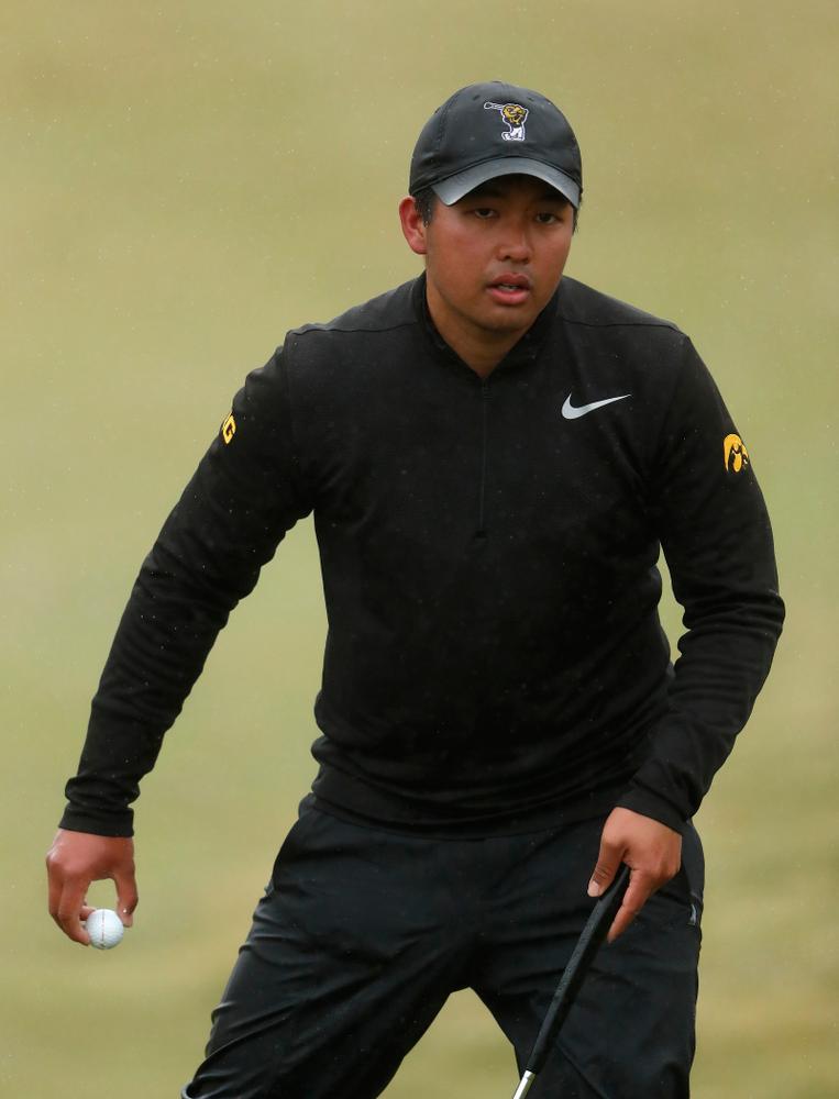 Iowa's Ryoto Furuya during day two of the 2018 Hawkeye Invitational Friday, April 13, 2018 at Finkbine Golf Course. (Brian Ray/hawkeyesports.com)