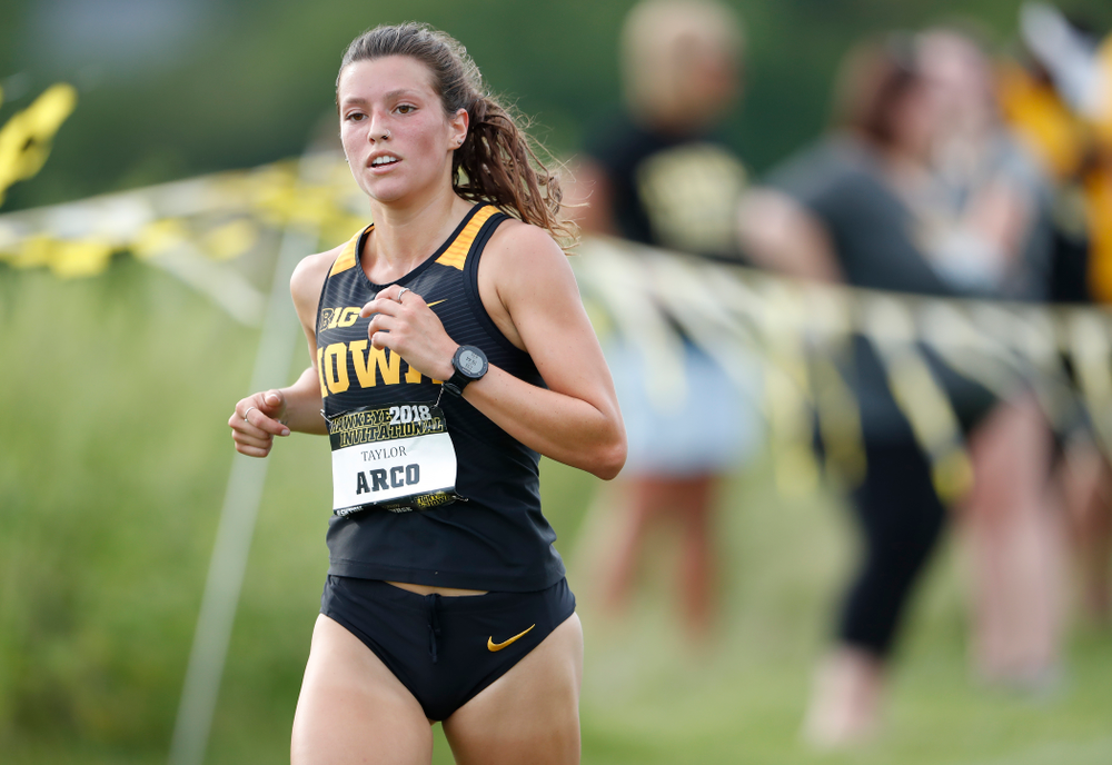 Taylor Arco during the Hawkeye Invitational Friday, August 31, 2018 at the Ashton Cross Country Course.  (Brian Ray/hawkeyesports.com)