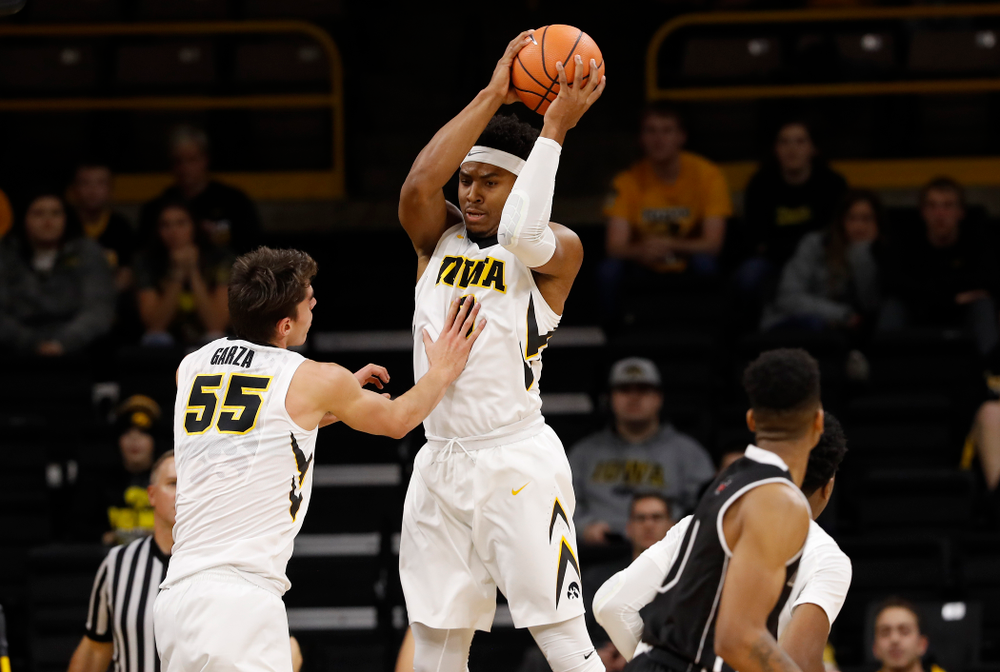 Iowa Hawkeyes forward Ahmad Wagner (0)