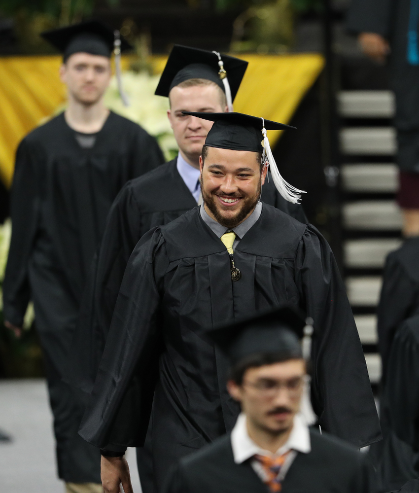 Iowa Football's Dalton Ferguson during the Fall Commencement Ceremony  Saturday, December 15, 2018 at Carver-Hawkeye Arena. (Brian Ray/hawkeyesports.com)
