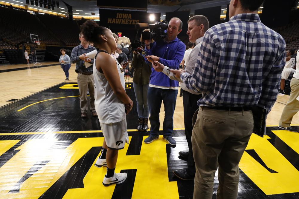 Iowa Hawkeyes guard Tania Davis (11) during the team's annual media day Wednesday, October 31, 2018 at Carver-Hawkeye Arena. (Brian Ray/hawkeyesports.com)