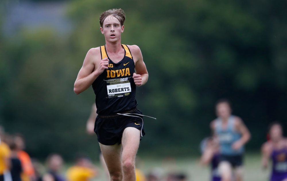 Jeff Roberts during the Hawkeye Invitational Friday, August 31, 2018 at the Ashton Cross Country Course.  (Brian Ray/hawkeyesports.com)